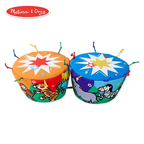 Bongo Drum Instruments - Melissa & Doug K's Kids Bongo Drums Soft Musical Instrument