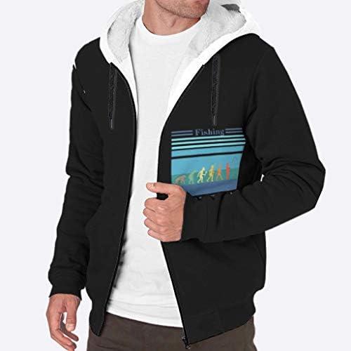 Generic Branded Sweat à capuche zippé en polaire ultra doux pour homme Blanc 3XL