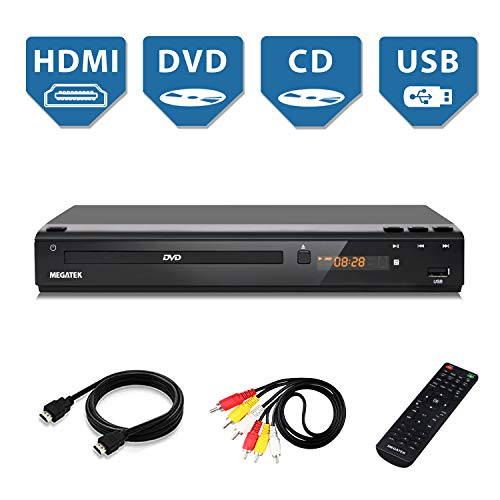 Best Prices! Home DVD Player for TV, HDMI Output Full HD 1080p Upscaling, USB Port, Supports Multi R...