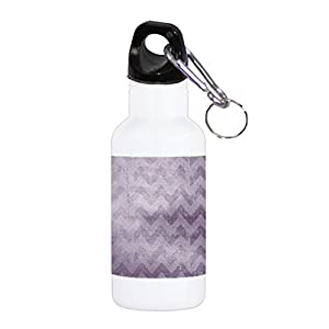 Grunge Vintage Purple Chevron Pattern Background 20 ounce Stainless Water Bottle by Moonlight Printing
