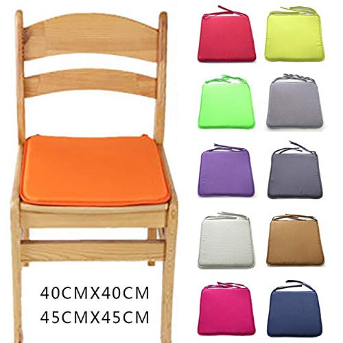 Portable Cushion, Dining Table Chair Cushion Breathable Stool Square Bench Sponge Cushion Seat Cushion Chair Cover (color : Rose, Especificaciones : 40x40cm) by Asdfooo (Image #1)