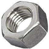 Steel Hex Nut, Zinc Plated Finish, Grade 2, Left Hand Threads, Meets ASME B18.2.2, Inch