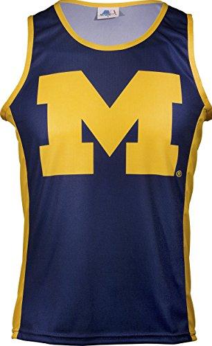 NCAA Michigan Wolverines RUN/TRI Singlet, Blue, - Singlet Run