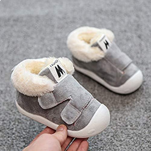 Kimloog Baby Boy Girl Fleece Lined Winter Warm First Walker Shoes Anti Slip