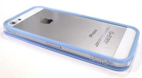 (Chivel (TM) Protector Bumper Frame Case Cover for Apple Verizon At&t Sprint T-Mobile iPhone 5 (Light Blue Transparent))