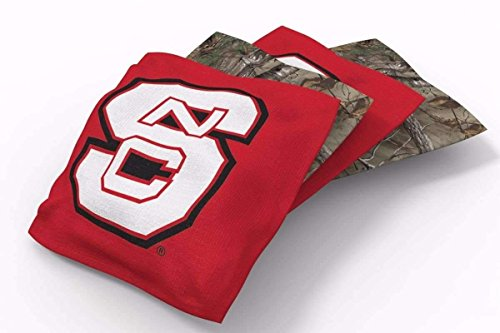 PROLINE 6x6 NCAA College NC State Wolfpack Cornhole Bean Bags - Real Tree Design (B)