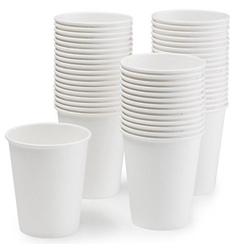 - Eskay, Premium Paper Disposable, Hot and Cold Cups, Coffee Cups 10oz.Squat Capacity, Value Pack of 100 Cups, White