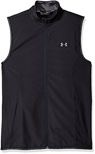 Under Armour Men's WindStrike Vest, Black (001)/Rhino Gray, X-Large Athletic Windproof Vest