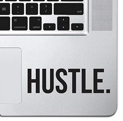 Hustle Sticker Decal MacBook Pro Air 13 15 17 Keyboard Keypad Mousepad Trackpad Laptop Retro Vintage Motivational Text Quote Laptop Sticker iPad Sticker Inspirational Sticker Hustler