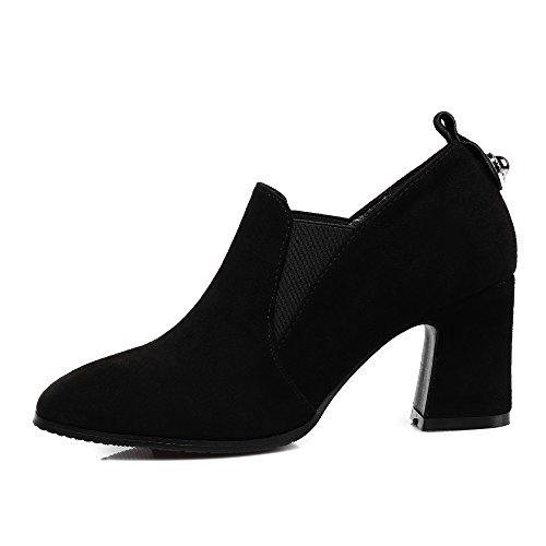 Bottes Bloc Chaussures Femme Bottines Carr Talon Bout chelsae Mode Haut qxa5faY1w