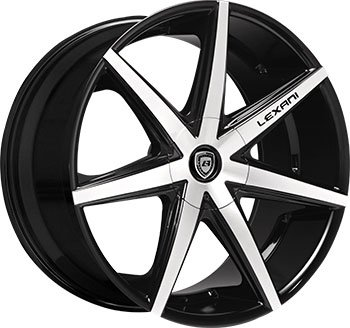 Amazoncom Inch Lexani R Seven Black Machine Wheels Rims Only - Black acura rims