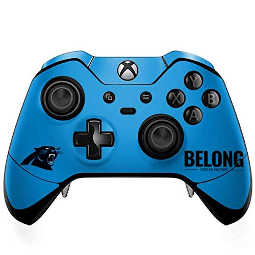 (Skinit Carolina Panthers Team Motto Xbox One Elite Controller Skin - Officially Licensed NFL Gaming Decal - Ultra Thin, Lightweight Vinyl Decal Protection)