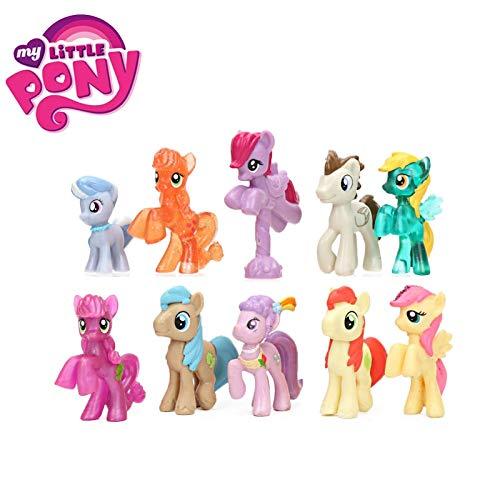 Best Quality - Action & Toy Figures - 10pcs/Set Toys Mini Pony PVC Action Figures Princess Rainbow Dash Twilight Sparkle Fluttershy Pinkie Pie Dolls - by SeedWorld - 1 PCs ()