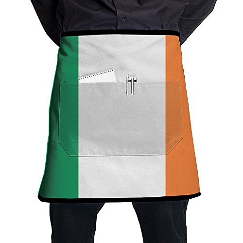 - MASDUIH Flag of Ireland Bib Aprons Half Aprons Half-Length Long Waist Kitchen