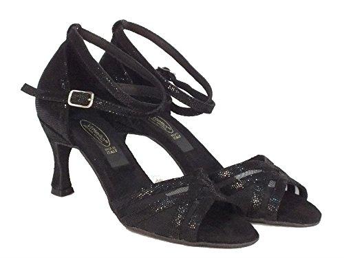 Vitiello En Noir Femmes Danse Sandales Chaussures Satin Chaussures Noir De De Noir Noir Danse RrqRxUw