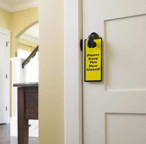 Parent Units Garage and Basement Door Safety Sign (Discontinued by Manufacturer)