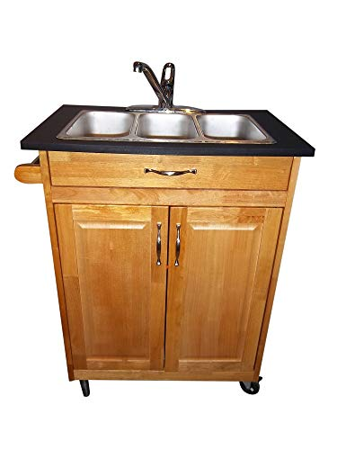 Three Compartment Self-contained Portable Sink Model PSW-009T