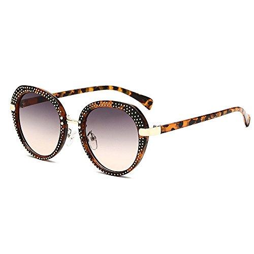 lunettes classique lunettes soleil soleil de soleil pour nouveauté la Rivet Style lunettes et nuances Lady Ronde Frame unisexe Punk designer de soleil PC pour de Rétro femmes Lunettes Print UV Animal hommes de voy 7pxwvgq