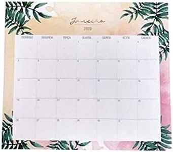 Bloco Planner MENSAL Botanic - 12 folhas Calendário 2020