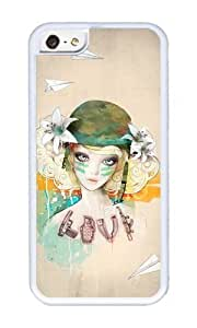 linJUN FENGApple ipod touch 5 Case,WENJORS Adorable War girl Soft Case Protective Shell Cell Phone Cover For Apple ipod touch 5 - TPU White