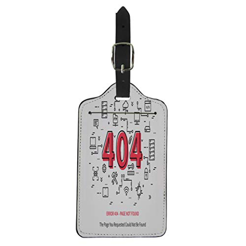 Pinbeam Luggage Tag Error 404 Page Datacenter Server Broken Not Found Suitcase Baggage Label