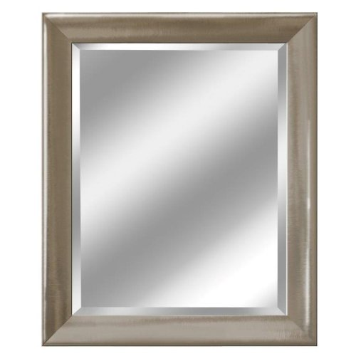 Head West Transitional Brushed Mirror, 29 by 35-Inch, Nickel