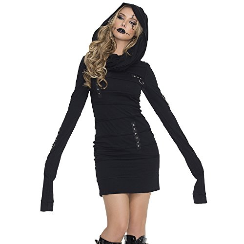 Mystery House Women's Goth Zombie, Black, Small
