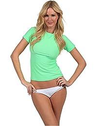 Ingear Ladies Rash Guard Short Sleeve Shirt Swimwear