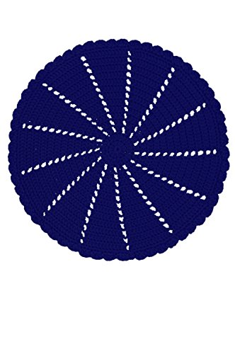 Heritage Lace MC-1015NV Mode Crochet 10'' Navy Round Doily Mode Crochet 10'' Round Doily,Navy by Heritage Lace