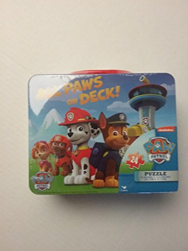 Lunch Tin All Paws On Deck Paw Patrol 24 Piece Puzzle (Homemade Kids' Tin Man Costume)