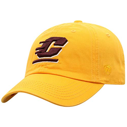Top of the World Central Michigan Chippewas Men's Hat Icon, Gold, Adjustable Central Michigan University Baseball