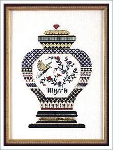 (Myrrh, Cross Stitch from Victoria Sampler)