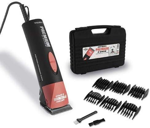 maletin artero premium maquina rasuradora con peines de color negro