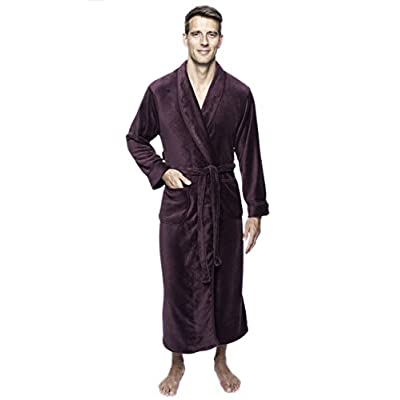 Twin Boat Men's Coral Fleece Plush Full Length Robe at  Men's Clothing store