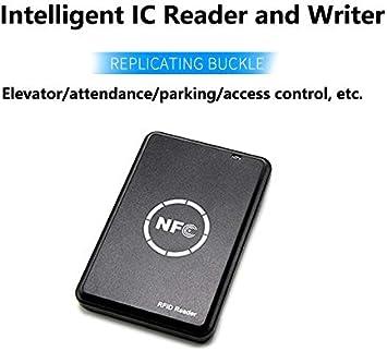 BSTUOKEY 13.56MHz M1 Card Reader Writer RFID Copier Duplicator NFC RFID Smart Card Reader Writer NFC Writer and 10 UID Keys