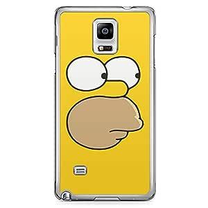 Loud Universe Homer Simpson Face Samsung Note 4 Case The Simpsons Face Samsung Note 4 Cover with Transparent Edges