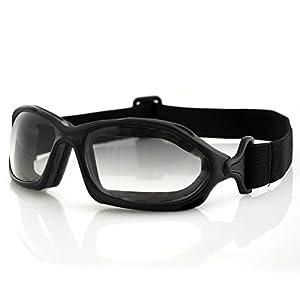 Bobster DZL Riding Goggles, Black Frame/Smoke Anti-fog Photochromic Lens