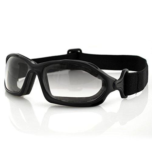 Bobster DZL Riding Goggles, Black Frame/Smoke Anti-fog Photochromic - Price V L Sunglasses