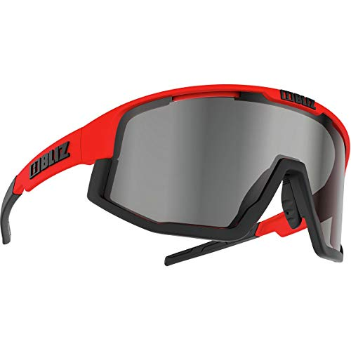 Bliz Fusion Sunglasses Shiny Red/Smoke Silver Mir Cat 3
