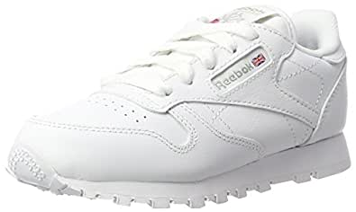 Reebok Classic Leather, Zapatillas de Trail Running para Niños, Gris (White / 1), 28 EU