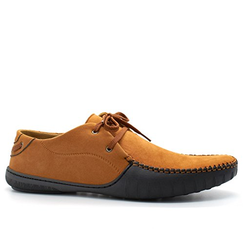 London Footwear , Herren Durchgängies Plateau Sandalen mit Keilabsatz Hautfarben