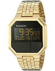 Nixon Men's A158502 Rerun Digital Display Automatic Self Wind Gold Watch