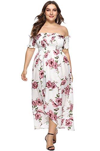 WDFZ - Jupe - Manches Courtes - Femme Large Blanc