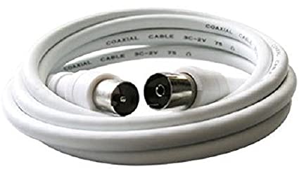 Chess k1177 Cable Coaxial Cable TV Televisión Blanco Cable de conexión 1,25 m Cable
