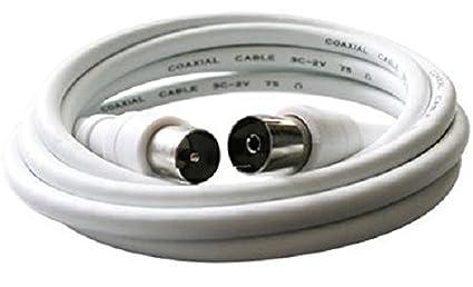 Chess k1177 Cable Coaxial Cable TV Televisión Blanco Cable de conexión 1,25 m Cable