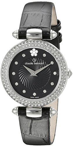 Claude Bernard Women's 20504 3P NPN2 Dress Code Analog Display Swiss Quartz Black Watch