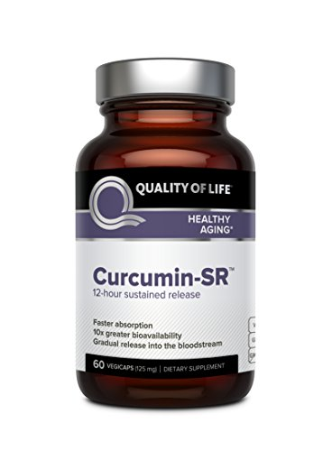Quality of Life – Healthy Aging – Sustained Release Inflammation Support – Curcumin-SR – 60 Vegicaps For Sale