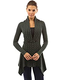 PattyBoutik Women's Buckle Braid Front Cardigan