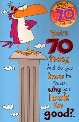 Amazon worlds greatest 70 year old humour birthday worlds greatest 70 year old humour birthday greetings card by uk greetings m4hsunfo
