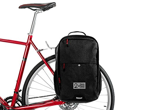Two Wheel Gear - Pannier Backpack Convertible - 2 in 1 Commuting and Travel Bike Bag - 1 Pannier
